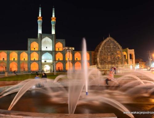 Iran – Amir Chakhmag Yazd – meczet jak malowany