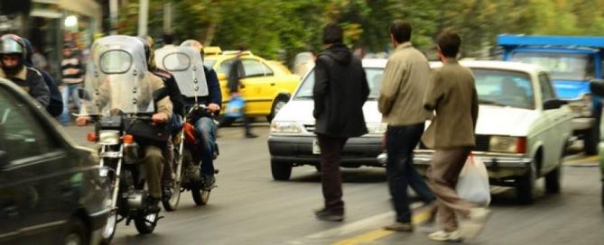Pieszy w Iranie nie ma żadnych praw