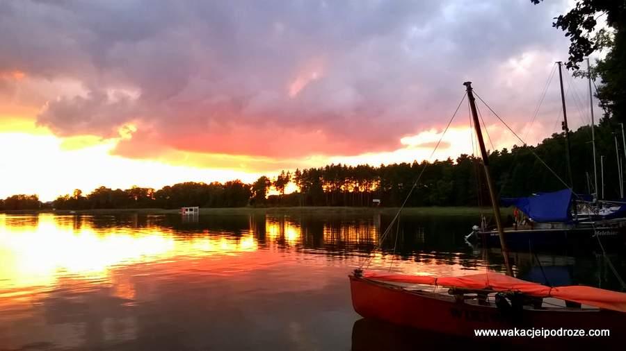 Mazury - zachód słońca