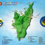 Koh Larn mapy