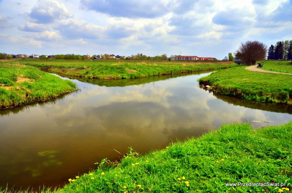 Wągrowiec skrzyżowanie rzeki Wełny i Nielby
