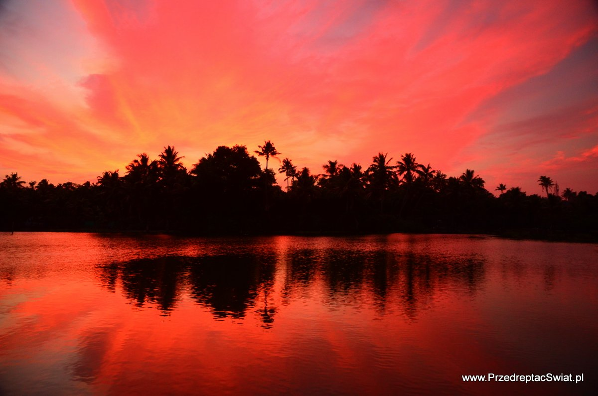 sunset Kerala Backwaters