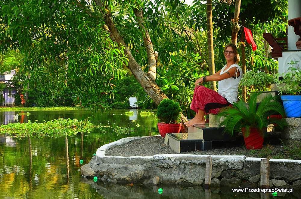 Kerala nocleg nad wodą