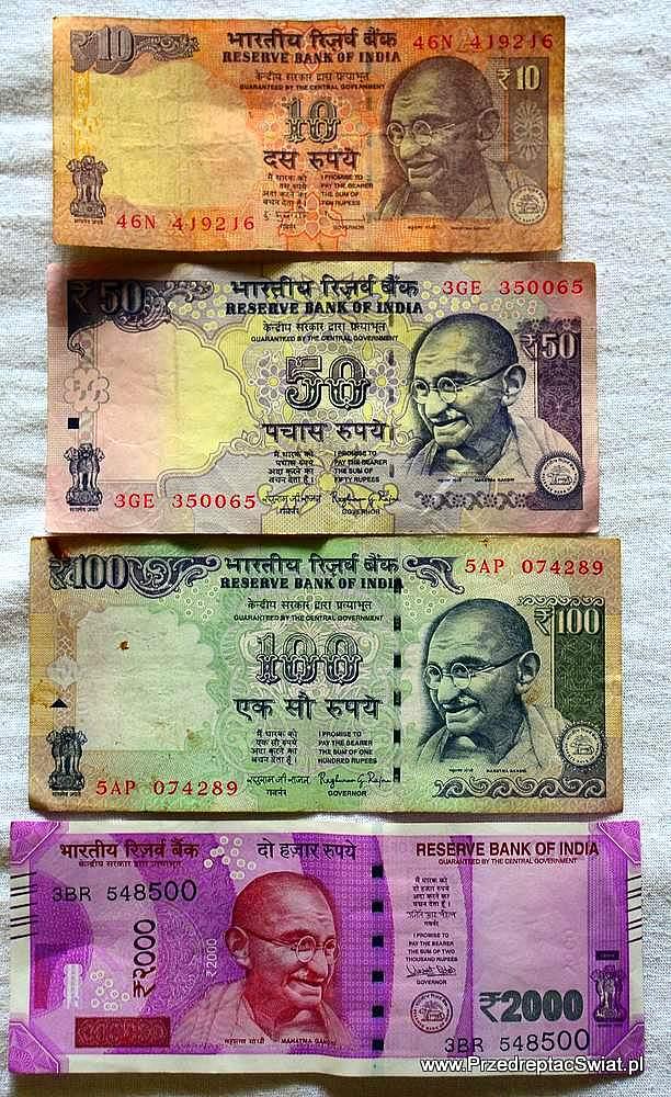 wymiana pieniędzy w Indiach