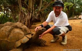 mauritius vanilla park i żółw olbrzymi