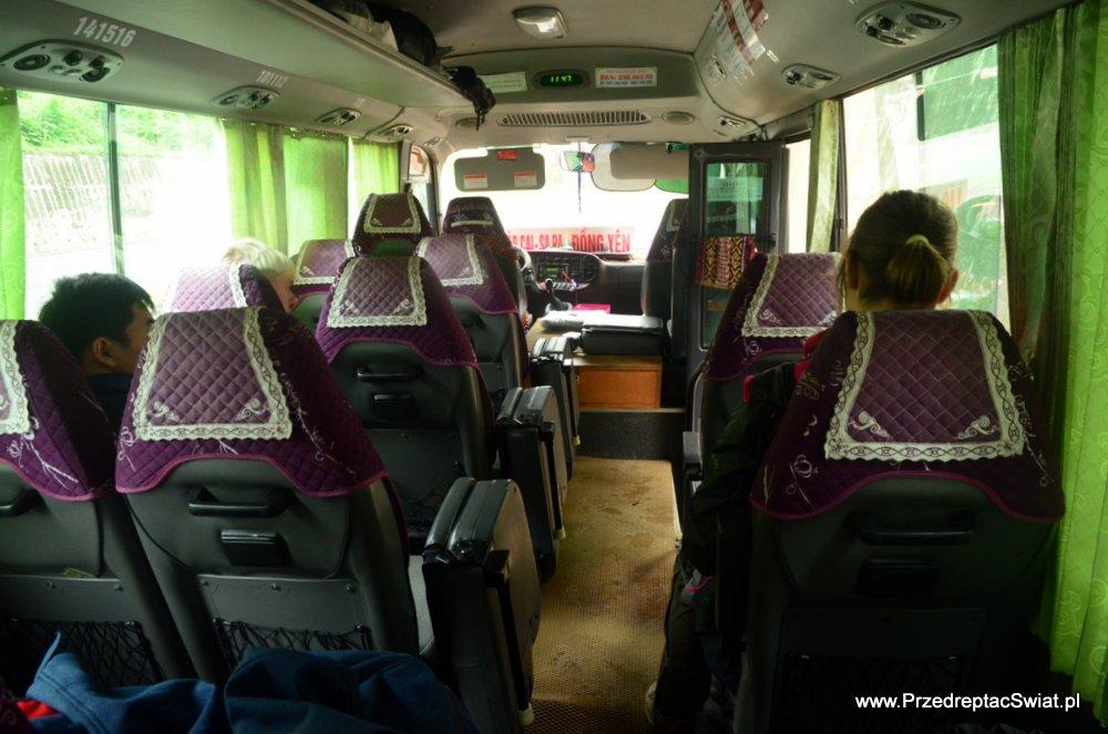 transport publiczny w Wietnamie - bus z sapy do ha giang