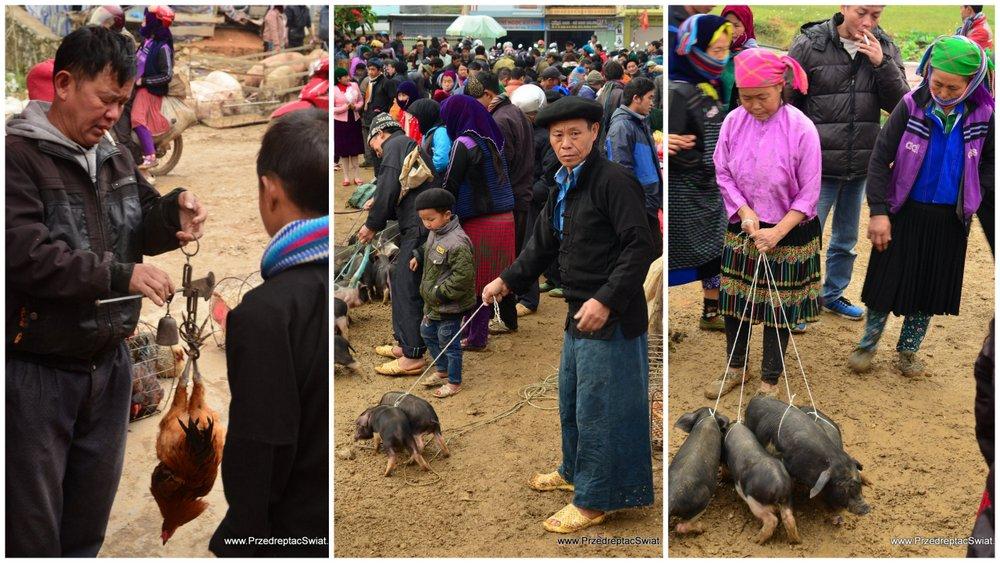 Wietnam nieznany - lokalny targ w Wietnamie - Dong Van