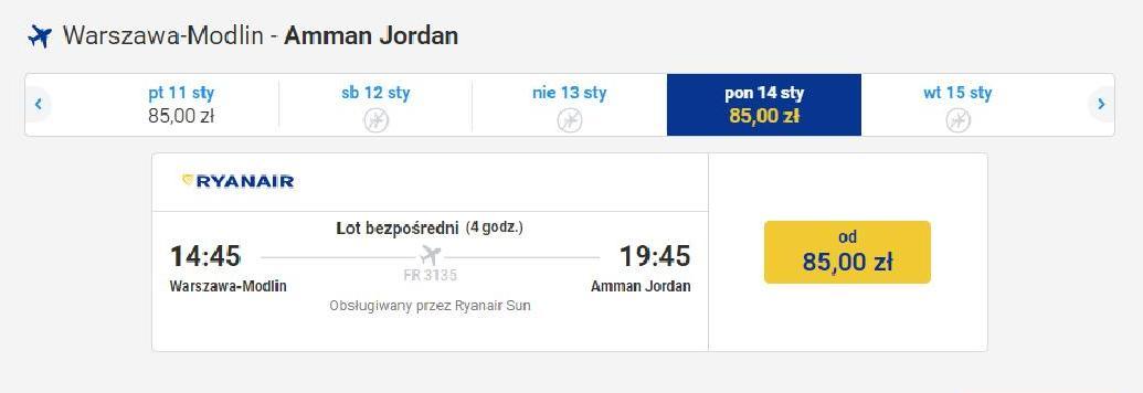 czy warto polecieć do Jordanii zimą? Bilety lotnicze od 85 zł
