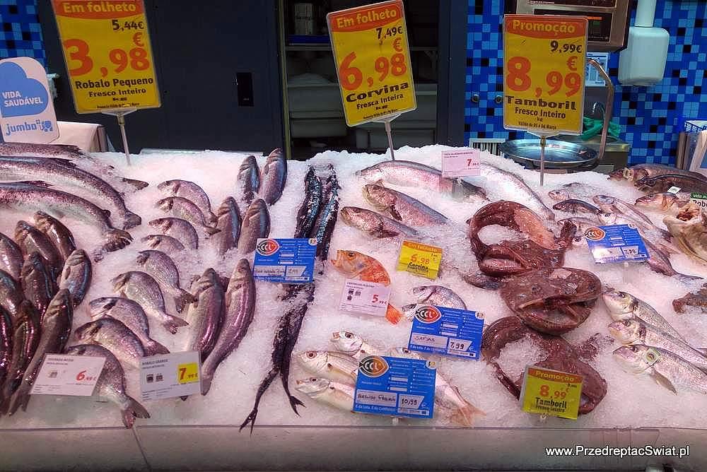 ceny w portugalii - ryby w markecie