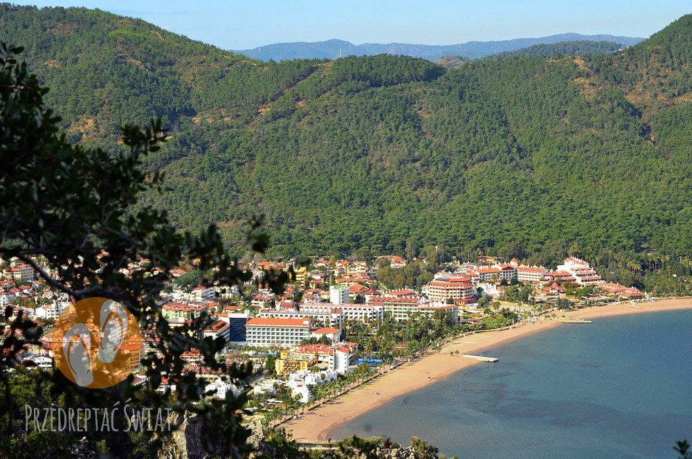 Turcja - widok na Icmeler ze szlaku pieszego do Turunc